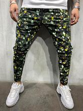 2020 nowy europejski i amerykański Leopard nadruk kamuflaż męskie swobodne spodnie młodzieżowe popularne sportowe spodnie Fitness spodnie do joggingu tanie tanio Ołówek spodnie CN (pochodzenie) Mieszkanie COTTON Aplikacje REGULAR Pełnej długości CK-027 Na co dzień Midweight Suknem