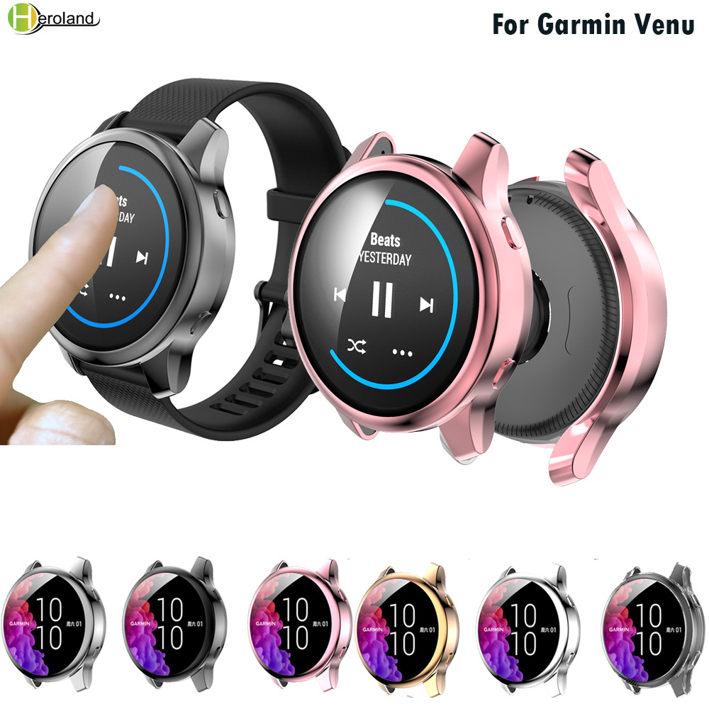 Full Protective Case Cover Shell For Garmin Venu SmartWatch Replacement Accessories Frame Cases 360 TPU Screen Protective