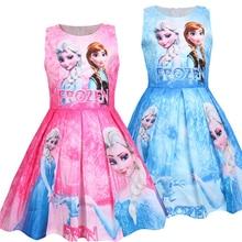 princess dress girl elsa anna kids dresses for girls clothes vestido infantil roupas robe fill elbise toddler frocks vestiti