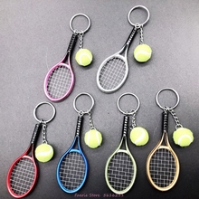 Multi-Color Tennis Keychain Bag Key Chain Sporting Goods Ball Hanging Decorations Fans Commemorative Gift Keyring