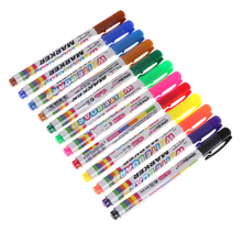 Pen Erasable Whiteboard-Marker Liquid-Chalk Glass 12pcs 12-Colors Ceramics-Maker Office
