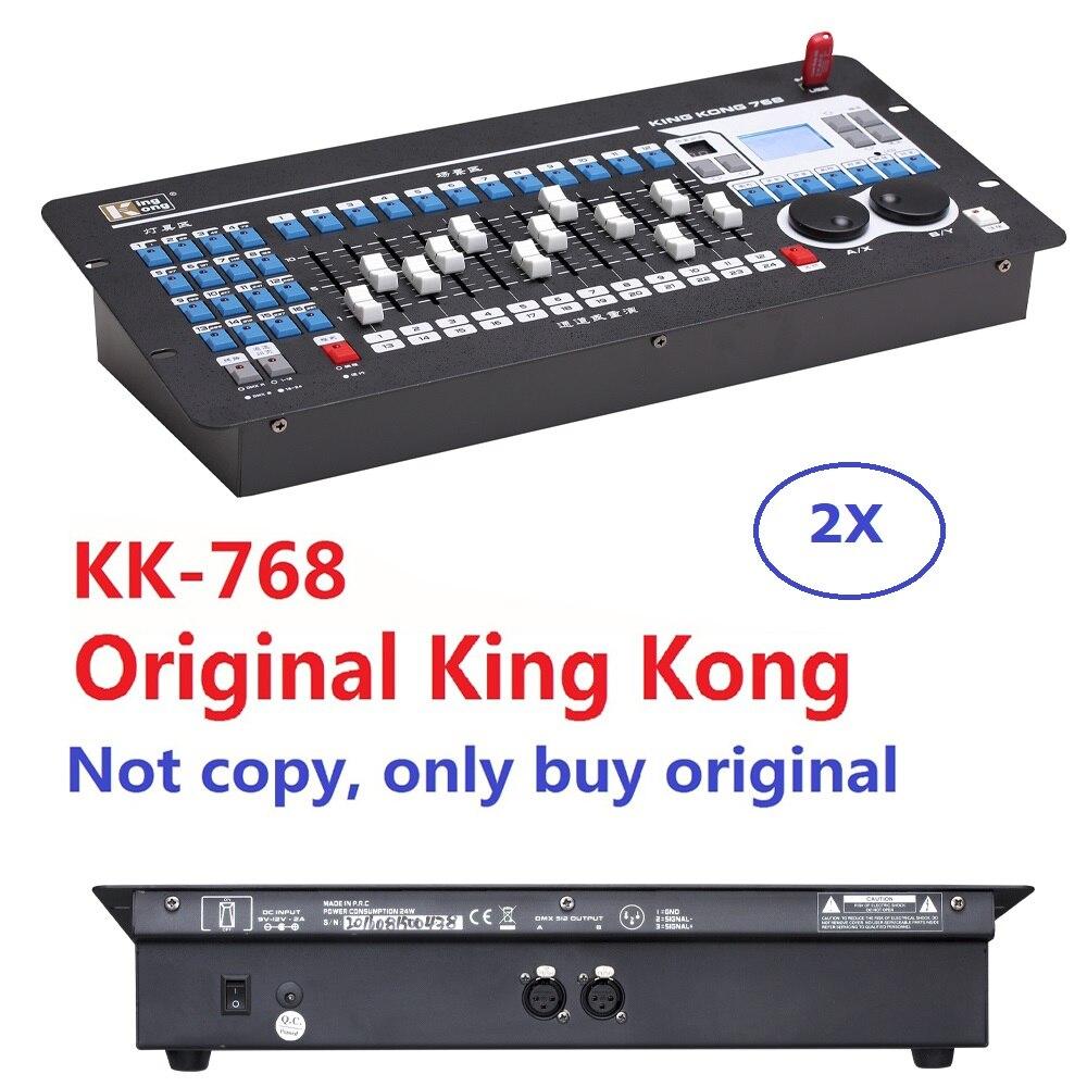 Профессиональный контроллер сценического освещения King Kong 768, 2 шт./набор