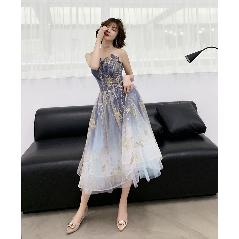 Gradient   Cocktail     Dresses   Tea Length Celebrity Party   Dress   Homecoming Gown Red   Dress   New Fashion