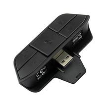 цена на Black Stereo Headset Adapter Headset Audio Adapter Headphone Converter For Microsoft Xbox One Wireless Game Controller
