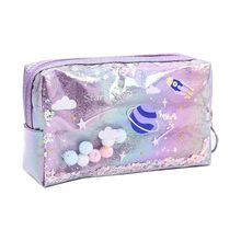 Pen-Box Pencil-Case Makeup-Bag Quicksand New Gift Planet Girls Large Lovely
