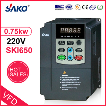 SAKO DC Input 220V 0.75KW AC Triple (3) Phase Output 1HP Photovoltaic Solar Pool Water Pump Inverter Converter image