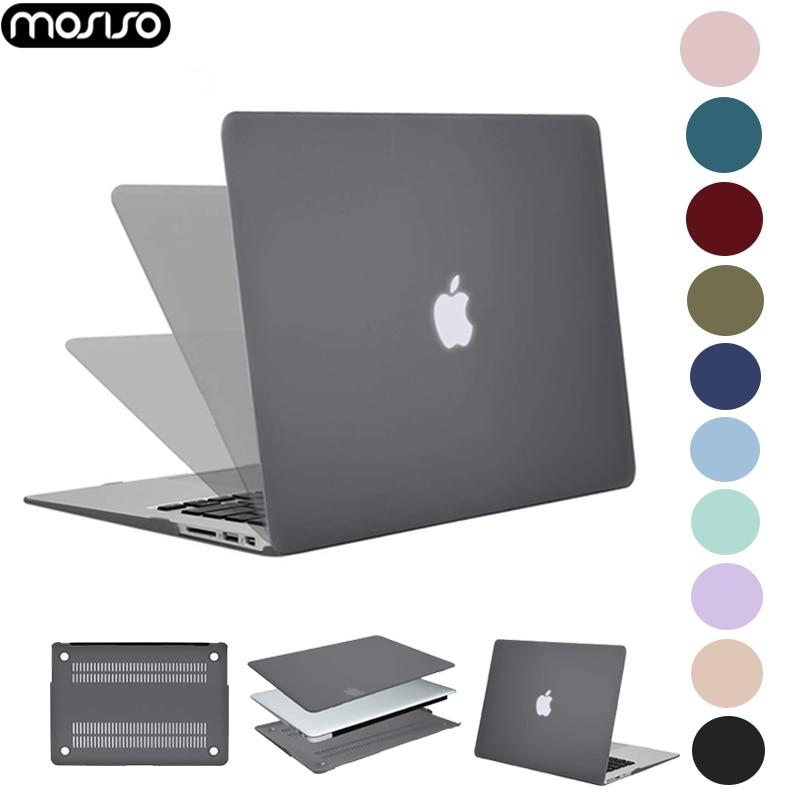 Mosiso capa dura para notebook, concha dura fosca para macbook air 11 13 polegadas para mac book pro 13 15 retina touch bar a2159 a1706 a1707 a1990