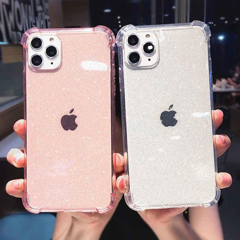 Lovebay Per il iPhone Cassa Del Telefono 11 Glitter Antiurto Per il iPhone 7 8 6 6s Plus 11 Pro X XR XS Max Trasparente Molle di TPU Della Copertura Posteriore