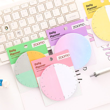 8pcs/lot Creative Plan Sheet Sticky Notes  Alarm Clock Gradient Post-it Note