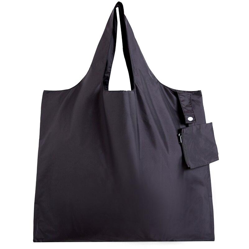 Nylon double couche grande poignée sac à dos pliable recyclage sac à provisions pliable réutilisable sac à provisions sac à main durable