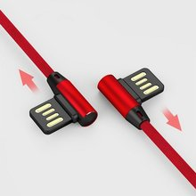 L Type Data Cable 90 Degree Nylon USB Cable Universal For Android Cellphone Fast Charging Cable High Speed Data Transmission