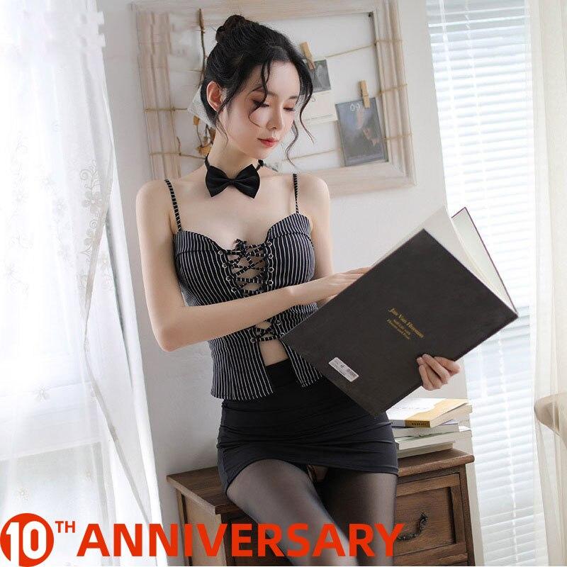 Sexy Lingerie Secretary Uniform Cosplay Costume Sexy Temptation Teacher Uniform Erotic Lingerie Bdsm Bondage Sexy Skirt G String