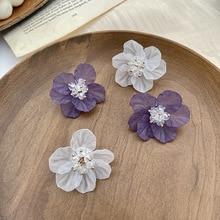 Korean Style Sweet Flower Drop Earrings for Women 2020 Summer Bling Bling Crystal Statement Earrings Femme Jewelry Elegant Gift недорого