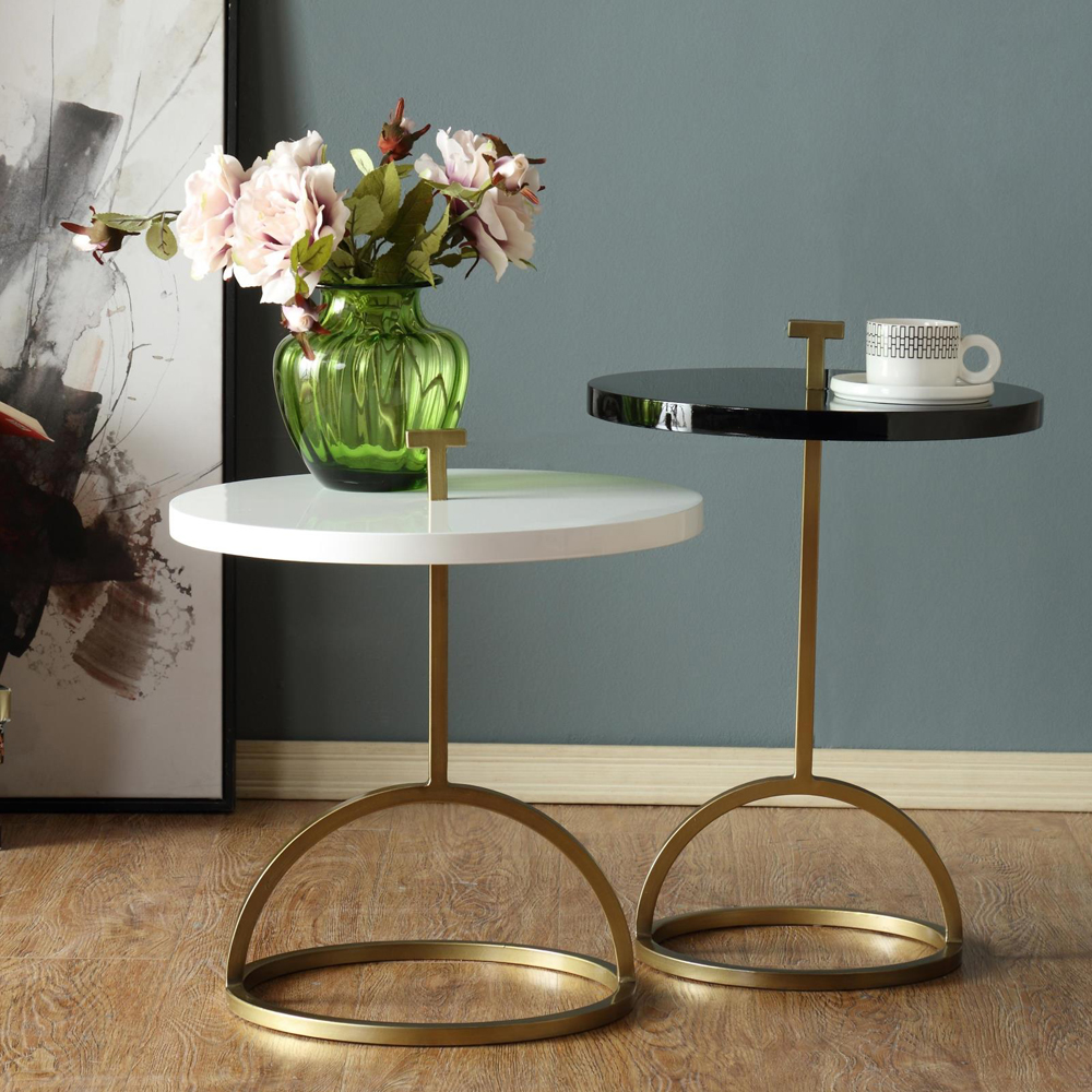 Metal Wood End Table Combinative Tea Table Coffee Table Creative Leisure Area Tables 2 Peoples With Lifting Handle