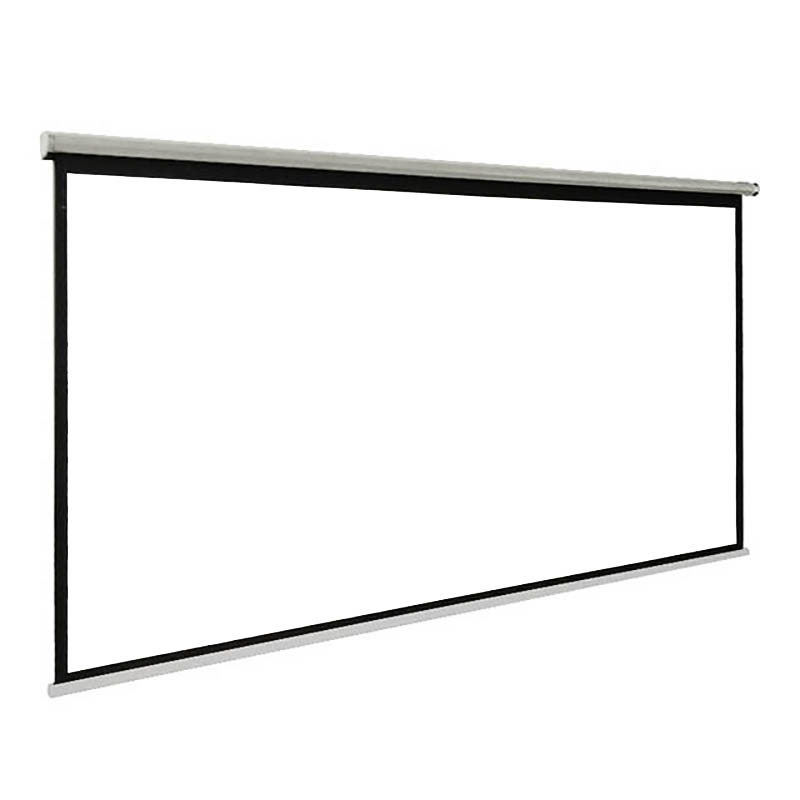 Thinyou 84 inch 4 3 Matte White Fabric Fiber Glass Curtain Pull Down Curtain hand pull projector screen LED DLP Beamer in Projection Screens from Consumer Electronics