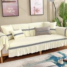 Winter plush sofa cushion modern minimalist new Chinese towel full cover