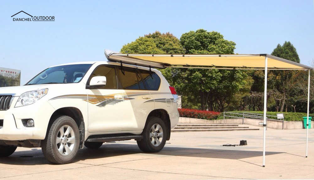 DANCHELรถหลังคากันสาดเต็นท์กันสาดสำหรับรถ 4WDกันน้ำด้านข้างรถเต็นท์Sunshelter