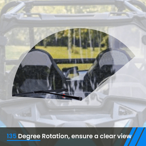 Image 2 - KEMiMOTO UTV wycieraczki szyby przedniej do Polaris RZR 570 800 900 1000 XP Ranger do Can Am Maverick X3 dowódca do Honda