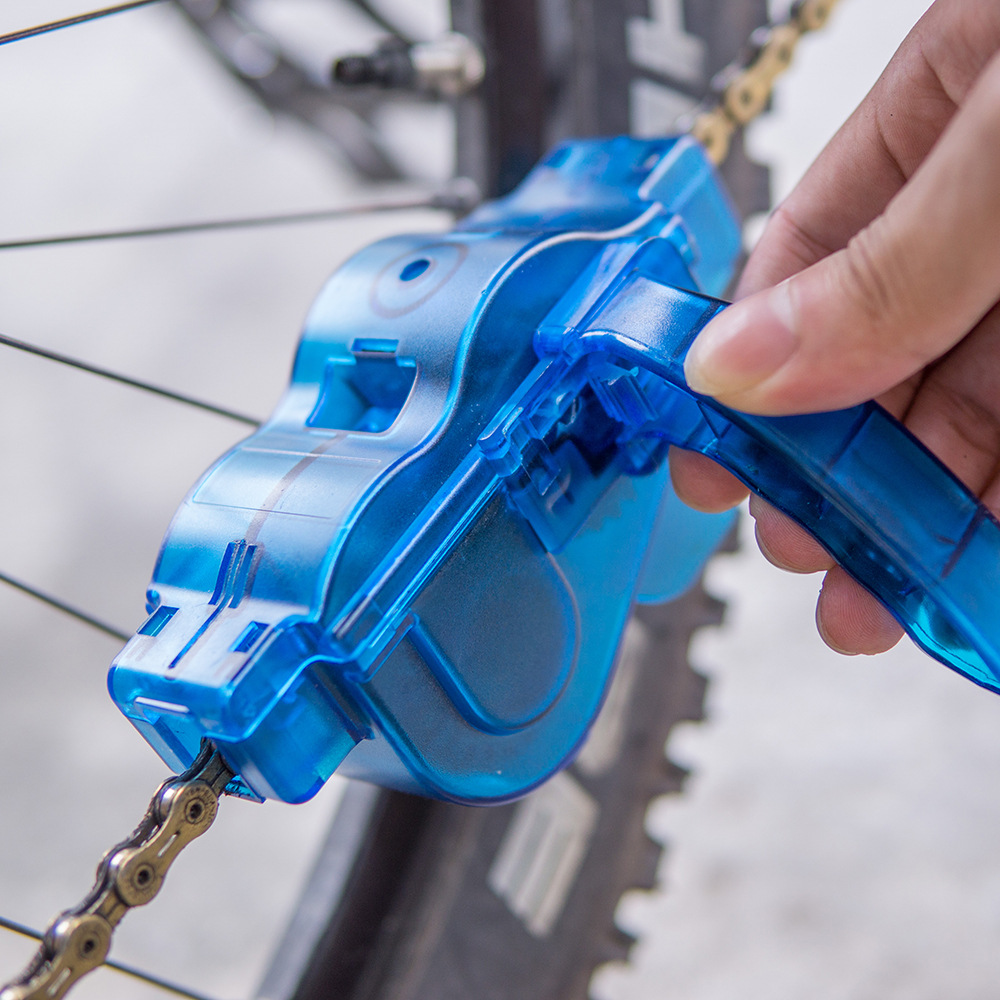 Portable Mountain Bike Road Bicycle Chain Cleaning Washing Device Parts Plastic