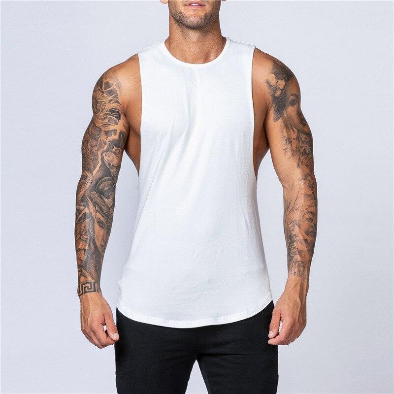 Fitness Singlets Sleeveless Workout Tank Top Men Gym Clothing Bodybuilding Musculation Vest Muscle Shirt Men