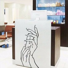 Wall Stickers Decoration Girl Hand Manicure Spa Beauty Salon PVC Personality Creative Sticker Art Wall Sticker Ecoration(China)
