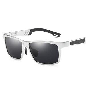 Image 4 - YSO Aluminium Meg Sunglasses Men Luxury Brand Polarized UV400 Protection Glasses For Driving Blue Lens Sunglasses For Men 6560