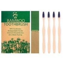 Brosse à dents zéro déchet de voyage en bambou, outil à poils écologiques, naturel, biodégradable