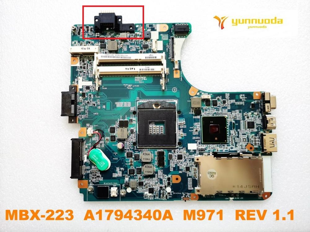 Original For SONY MBX-223 Laptop  Motherboard MBX-223  A1794340A  M971  REV 1.1  Tested Good Free Shipping