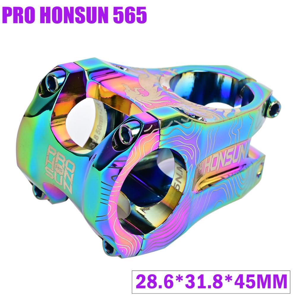 PRO HONSUN горный велосипед алюминиевый сплав велосипедный стержень 28,6 мм 31,8 мм подставка 45 мм короткий стержень 0 градусов CNC велосипедные аксе...