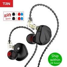 Casque d'écoute hybride en métal TRN VX 1DD 6BA, écouteurs HIFI, oreillettes avec suppression de bruit, TRN V90S BA8 ZAX ZSX