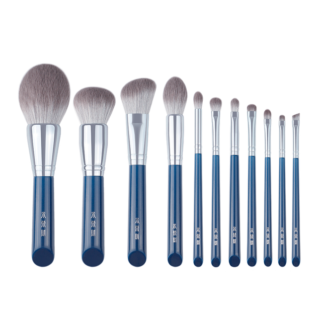 MyDestiny makeup brush-The Sky Blue 11pcs super soft fiber makeup brushes set-high quality face&eye cosmetic pens-synthetic hair 4