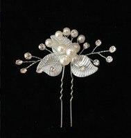 Корейский стиль Серебряный головной убор невесты цветок спиральный заколка для волос маленькие аксессуары для волос Металлические Свадеб...