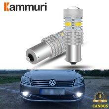 Kammuri canbus branco nenhum erro 1156 p21w lâmpada led para vw volkswagen passat b7 2011 2012 2013 2014 led luzes diurnas drl