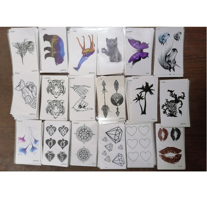 Kiss /Bear /Tiger/Arrow  Waterproof Temporary Tattoos Sticker Temporaire Tatouage Henna Tattoo Sleeve Tatoo Fake Tattoo Kids