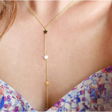 Gold Color Star Tassel Necklace Fashion Female Jewelry Gifts(China)