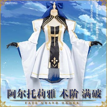 Anime! Fate/Grand Order FGO Altria Pendragon Full Broken Battle Suit Uniform Cosplay Costume Halloween Outfit NEW Free Shipping 1