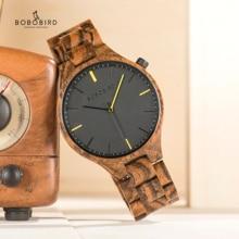 Bobobird Montre Homme 2020 Horloges Heren Hout Uurwerk Horloge Met Gift Houten Doos Dropshipping V S27