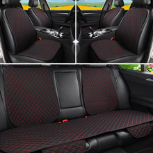 Protector Cushion-Pad Car-Seat-Cover Auto 5-Seats Backrest Front Flax with Washable Mat