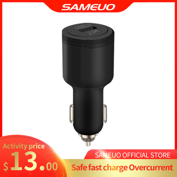 SAMEUO Ports USB Car Charger Quick Charge 2.0A Fast Car Cigarette Lighter For Samsung Huawei Xiaomi iphone Car Charger QC 2.0