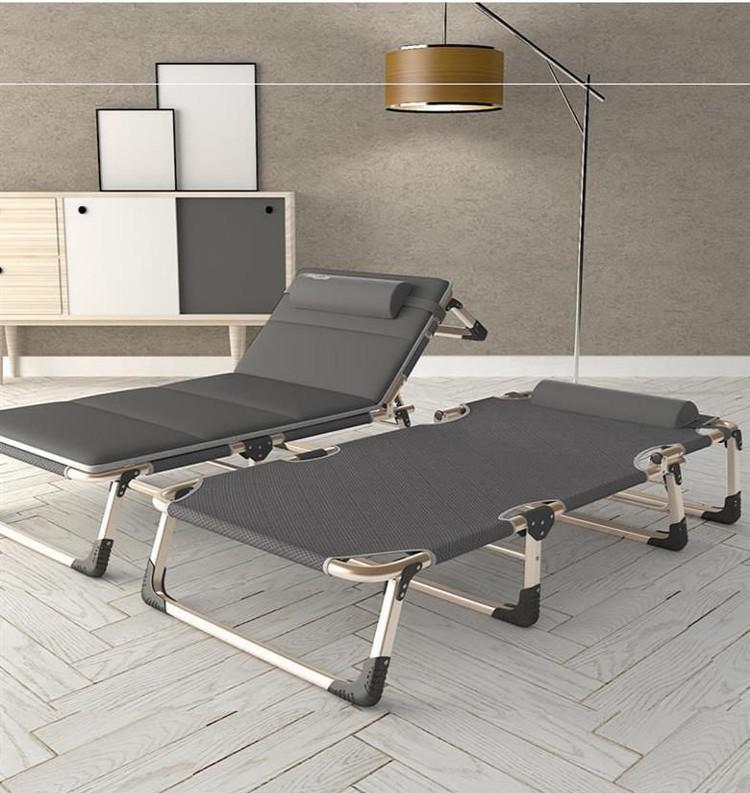 Folding Bed Single Bed Home Simple Lunch Bed Office Adult Nap Marching Bed Multifunctional Lounge Chair