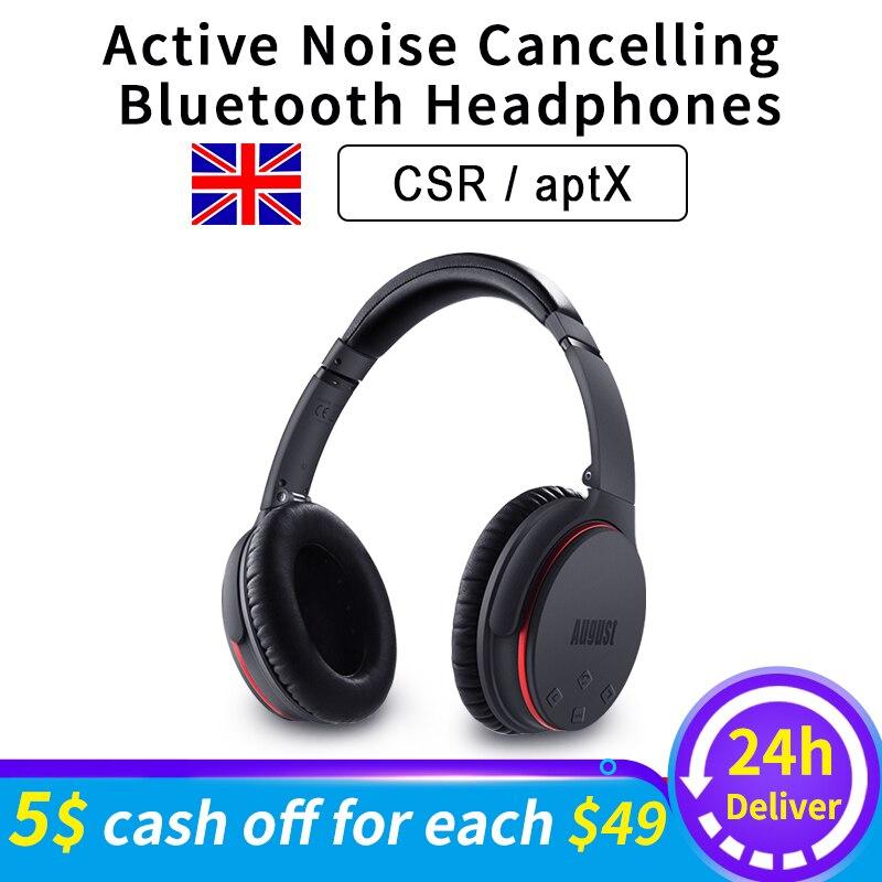 EP735 Aktive Noise Cancelling Bluetooth Kopfhörer Drahtlose mit Mic Bluetooth 4,1 Stereo ANC Headset für Luft Reise aptX