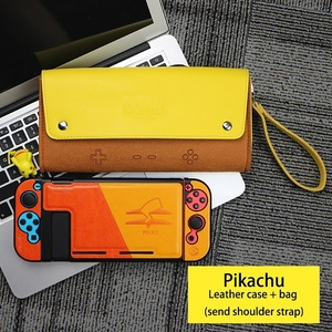 Image 5 - For Nintend Switch leather Case Soft Carry Travel Bag Console Accessories Portable Storage Shell Pikachu1 Mario1 Eevee1