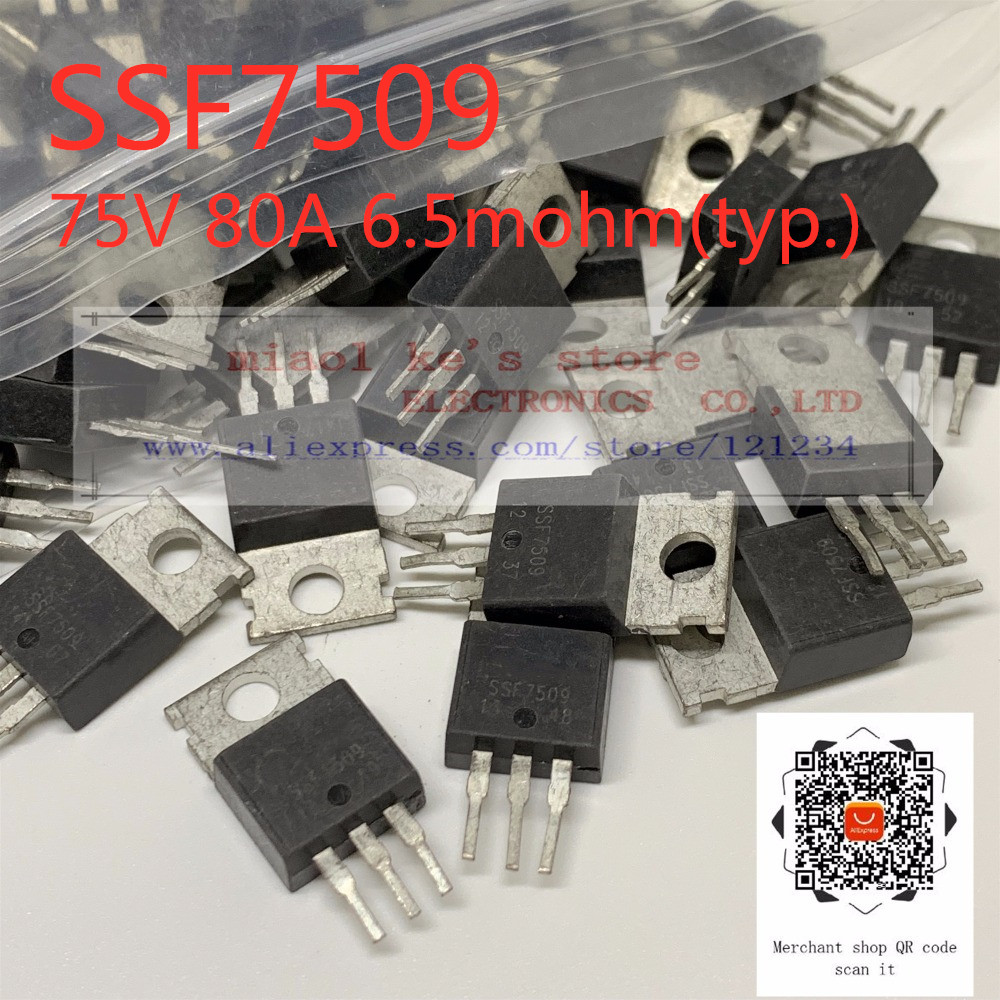 [ 10pcs/1lot ] 100% Original: SSF7509  [used Goods] - Electric Vehicle Controller Field Effect MOS Tube