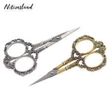 Vintage Scissors Stainless Steel Sewing for DIY Fabric Needlework Stitch Craft Shears Tools