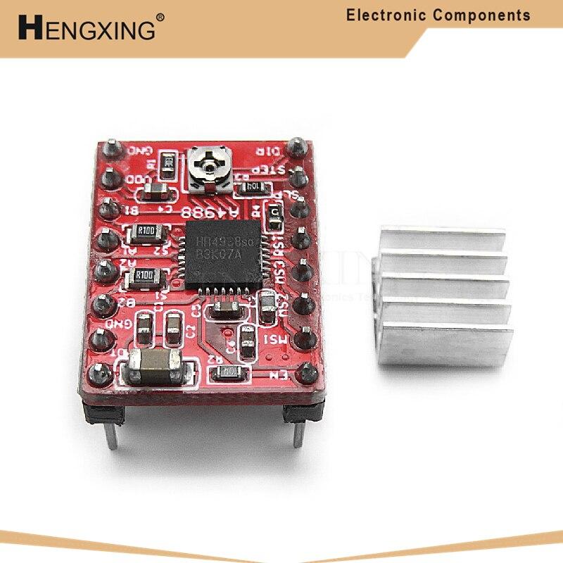 1 шт A4988 StepStick шагового Драйвер + радиатор для Reprap Pololu 3D-принтеры красный M08 челнока L29K в наличии