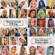 13×6 Blonde Lace Front Wig Brazilian 1B 613 Short Bob Lace Front Human Hair Wigs For Black Women Transparent Lace Front Wig