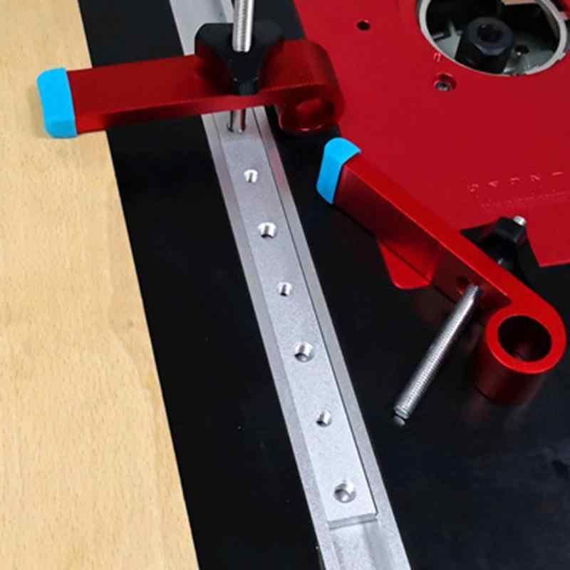 In Lega di Alluminio T-Tracce Slot Mitra Pista Mitra Bar Slider Tabella Seghe Calibro Asta Adatto per 30/45 Tipo di Scivolo