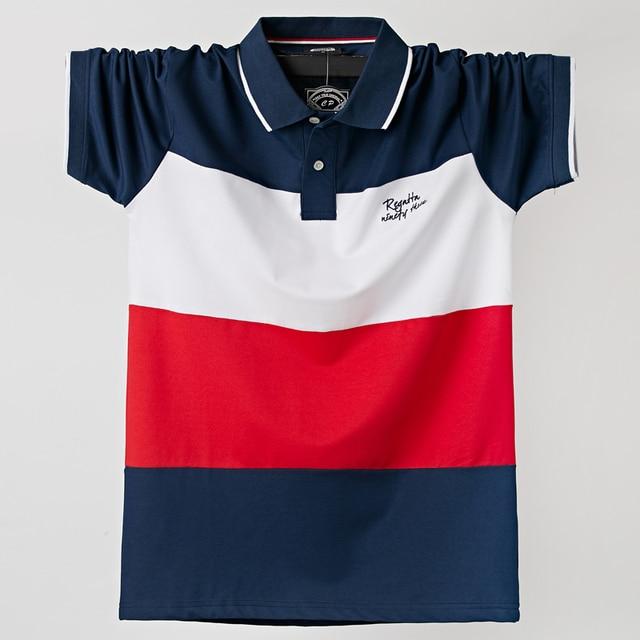 2020 남성 폴로 셔츠 여름 남성 캐주얼 통기성 플러스 사이즈 5xl 스트 라이프 반팔 티셔츠 코튼 6XL 5XL XXXXL 플러스 사이즈