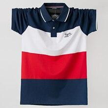2020 Men Polo Shirt Summer Men Casual Breathable Plus Size 5xl Striped Short Sleeve Polo Shirt Cotton 6XL 5XL XXXXL Plus Size
