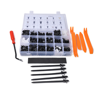 435PCS/Set Replacement for GM Ford Jeep Chrysler Car Retainer Clips & Plastic Fasteners Kit Door Trim Panel Clips